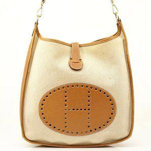Auth Hermes Evelyn Gm Shoulder Bag #4020H51